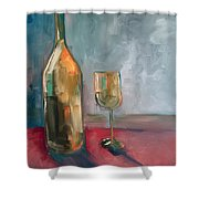A Bottle Of White... Shower Curtain