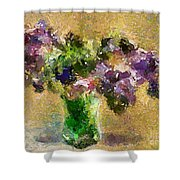 A Bouquet Of Lilac Shower Curtain