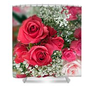 A Bouquet Of Roses For You Shower Curtain