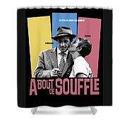 A Bout De Souffle Movie Poster Shower Curtain