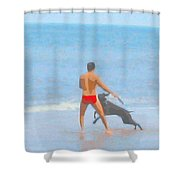 A Boy And His Dog 2 Shower Curtain