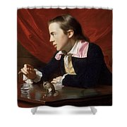 A Boy With A Flying Squirrel. Henry Pelham Shower Curtain