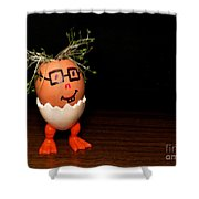 A Brave Eggman. Easter People Series Shower Curtain