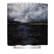 A Break In The Skyline Shower Curtain by Frances Marino