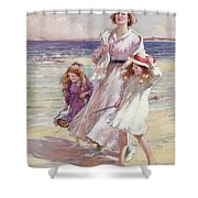 A Breezy Day At The Seaside Shower Curtain