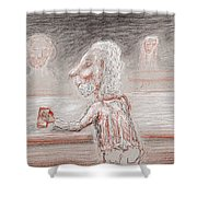 A Brew Please Shower Curtain