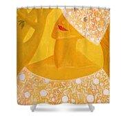 A Bride Shower Curtain