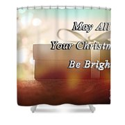 A Bright Christmas Shower Curtain