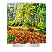 A Bright Day Shower Curtain