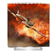 A British Supermarine Spitfire Bursting Shower Curtain