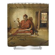 A Buddhist Monk, From India Ancient Shower Curtain