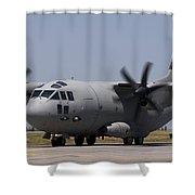 A Bulgarian Air Force Alenia C-27j Shower Curtain