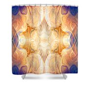 A Burst Of Light Abstract Living Artwork By Omaste Witkowski Shower Curtain