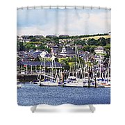 A Busy Harbour And Waterfrontkinsale Shower Curtain