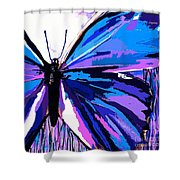 A Butterfly So Blue Shower Curtain