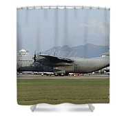 A C-130j Hercules Of The Royal Shower Curtain
