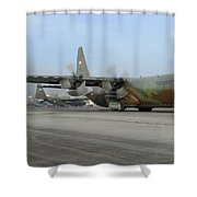 A C-130j Super Hercules Shower Curtain