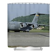 A C-17 Globemaster IIi Of The U.s. Air Shower Curtain