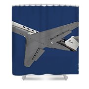 A C-20 Gulfstream Jet In Flight Shower Curtain