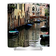 Calm Canal In Venice  Shower Curtain