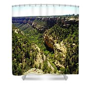 A Canyon At Mesa Verde Shower Curtain