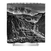 A Canyon Storm Shower Curtain