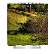 A Castle In The Landscape Shower Curtain
