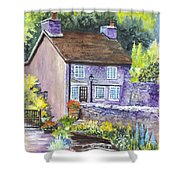 A Castleton Cottage In Uk Shower Curtain