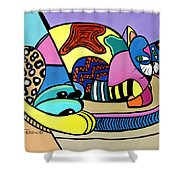 A Cat Named Picasso Shower Curtain