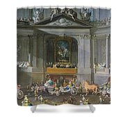 A Cavalcade In The Winter Riding School Of The Vienna Hof To Celebrate The Defeat Of The French Shower Curtain