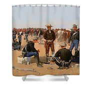 A Cavalryman's Breakfast Shower Curtain