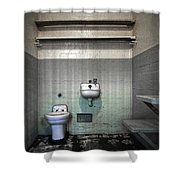 A Cell In Alcatraz Prison Shower Curtain by RicardMN Photography