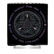 A Celtic Witches' Brew Shower Curtain