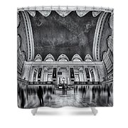 A Central View Bw Shower Curtain by Susan Candelario