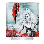 A Chair For My Heart Please - Thank You. Shower Curtain