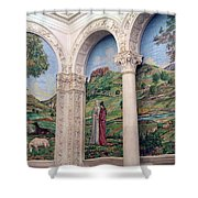 A Chapel's Mosaics Shower Curtain