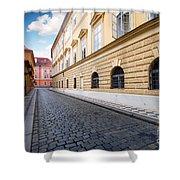 A Charming Street In Prague Shower Curtain