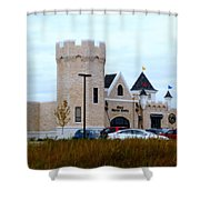A Cheese Castle Shower Curtain