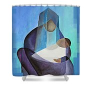 A Child Is Born Christmas Greeting  Shower Curtain