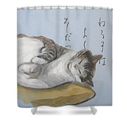 A Child Who Sleeps Well Grows Well Shower Curtain