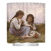 A Childhood Idyll Shower Curtain