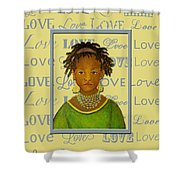 A Child's Whispers Of Love Shower Curtain by The Art With A Heart By Charlotte Phillips