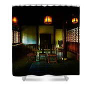 A Chinese Scholar's House Shower Curtain