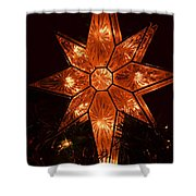 A Christmas Star Shower Curtain
