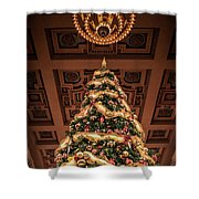 A Christmas Tree At Union Station Shower Curtain
