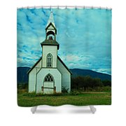 A Church In British Columbia   Shower Curtain
