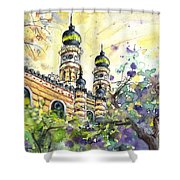 A Church In Budapest 01 Shower Curtain