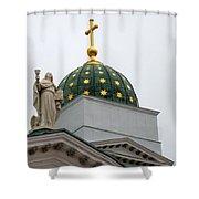 A Church In Helsinki Shower Curtain
