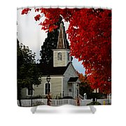 A Church In Historic Jacksonville Shower Curtain