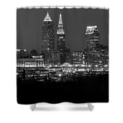 A Cleveland Black And White Night Shower Curtain